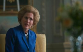 Gillian Anderson als Margaret Thatcher in The Crown. Foto: Netflix